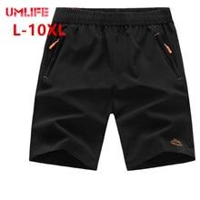 UMLIFE, пляжные шорты для мужчин, одежда для плавания, быстросохнущие, дышащие, плавки, штаны, плюс размер, эластичный пояс, летние шорты 10XL 9XL 8XL
