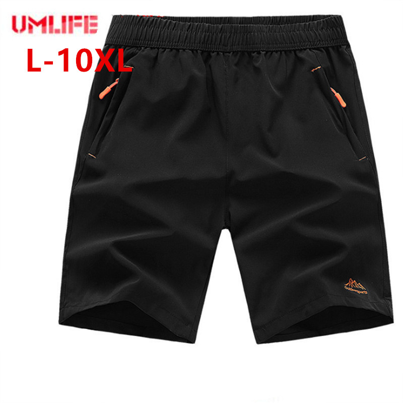 UMLIFE Big size 7XL 8XL 9XL 10xl Sports   Shorts   Mens Elastic Waist summer Beach   Shorts   Breathable Quick-drying   Board     Shorts