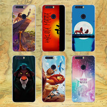 comic The Lion King Hakuna Matata style transparent Thin phone Case for Huawei Honor 8 lite V8 for Honor 6 5 5C 5X 4X