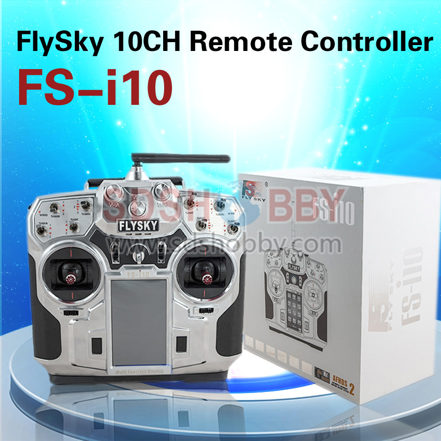 ФОТО flysky fs-i10 2.4g 10ch transmitter remote controller radio system 3.55in screen including ia10 receiver