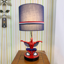 Creative SpiderMan table captain American shape desk light for children bedroom bedside lamps study lighting decoration lamp E27