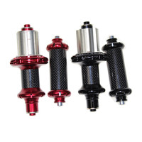 Super Light Powerway R36 Carbon Hubs Road Bike Hubs Straight Pull Road Bicycle Hub Front 20 Rear 24 Holes Red And Black Color