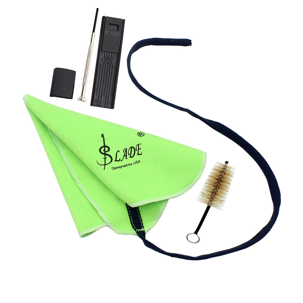 saxophone clarinet flute cleaning kit with mouthpiece brush cleaning cloth thumb pad reed case. Black Bedroom Furniture Sets. Home Design Ideas