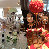 Hot metal European five metal candlestick Hotel specialties decoration wedding props