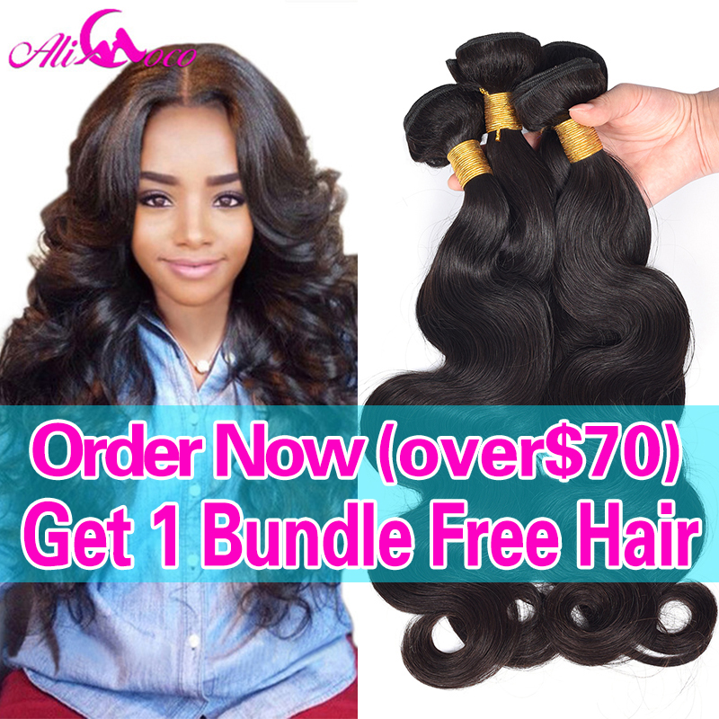 Hair Weaving: Brazilian Virgin Hair Body Wave Cheap Human Hair 3 Bundle Deals Black Friday Deals 7A Unprocessed Brizilian Virgin Hair Body