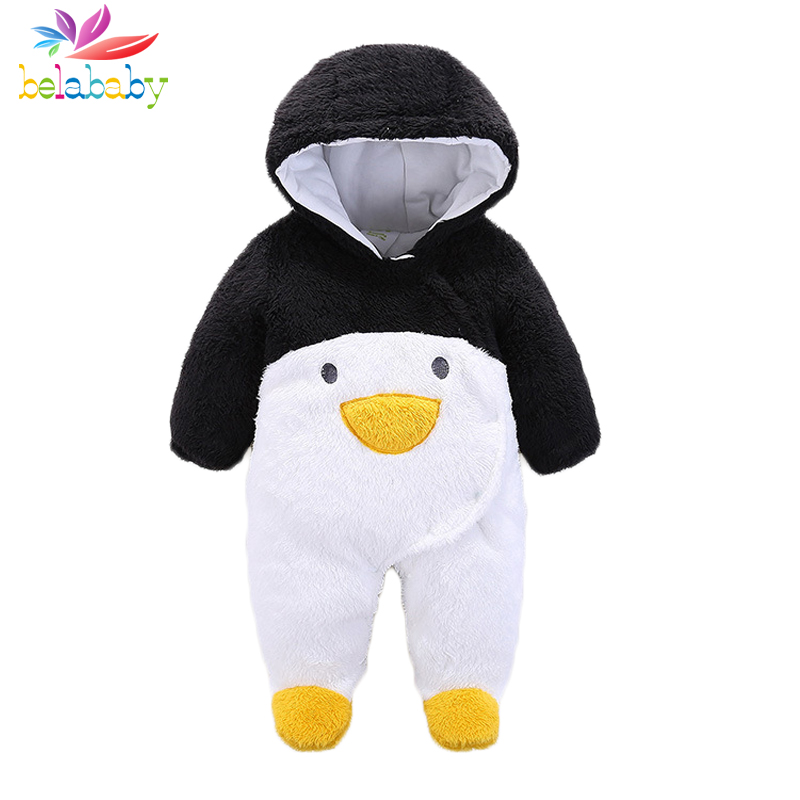 Belababy Baby Romper Infant Boy Bear Romper Newborn Hooded Animal Clothes Toddler Cute Panda Romper Girl Jumpsuit Baby Costume baby girl clothes romper hello kitty jumpsuit kids clothes newborn conjoined creeper gentleman baby costume dress 3pcs new 2016
