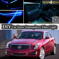 For Cadillac ATS interior Ambient Light Tuning Atmosphere Fiber Optic Band Lights Inside Door Panel llumination Refit