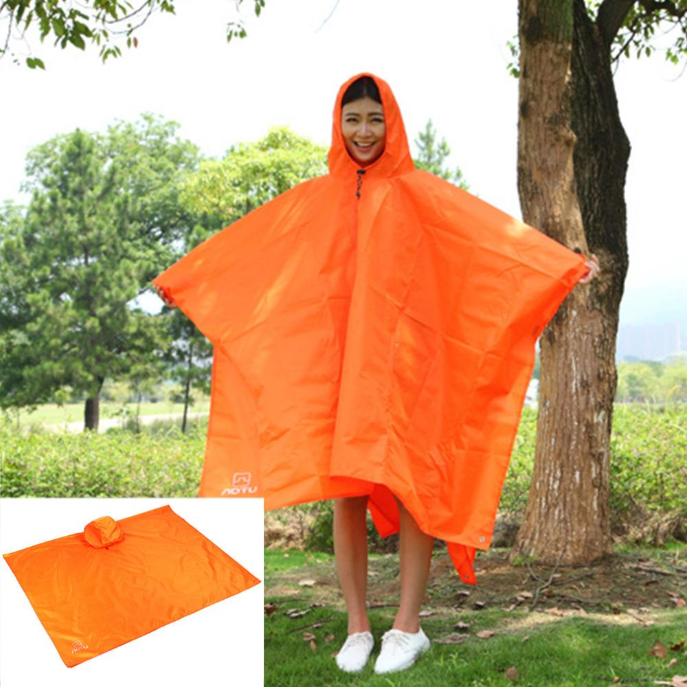 3in1 Multifunctional Raincoat Outdoor Travel Rain Poncho Backpack Rain Cover Waterproof Tent Awning Climbing Camping Hiking Tool Sports & Entertainment