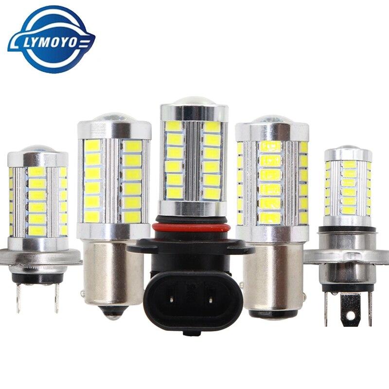 Adaptable Lymoyo 9006 Hb4 Led 9005 Hb3 H4 H7 H11 H8 Ba15s T20 5630 33smd Fog Lamp Daytime Running Light Turning Braking Bulb White Dc12v Car Fog Lamp Car Lights