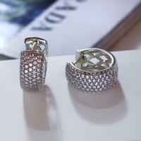 New Fashion Hoop Earrings Made with AAA Cubic Zirconia Free Allergy Lead Free