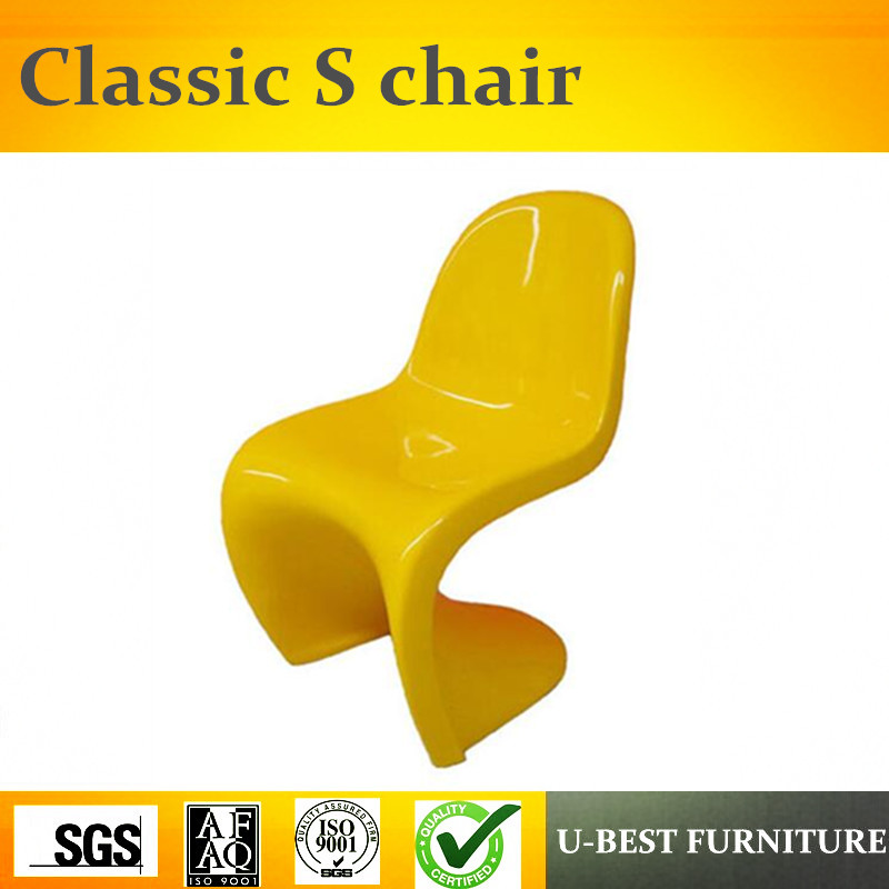 U-BEST Superior quality colorfully PP or ABS plastic S shape CHAIR for Living room u best s shape modern polypropylene pp leisure chairs adult s plastic verner abs chair