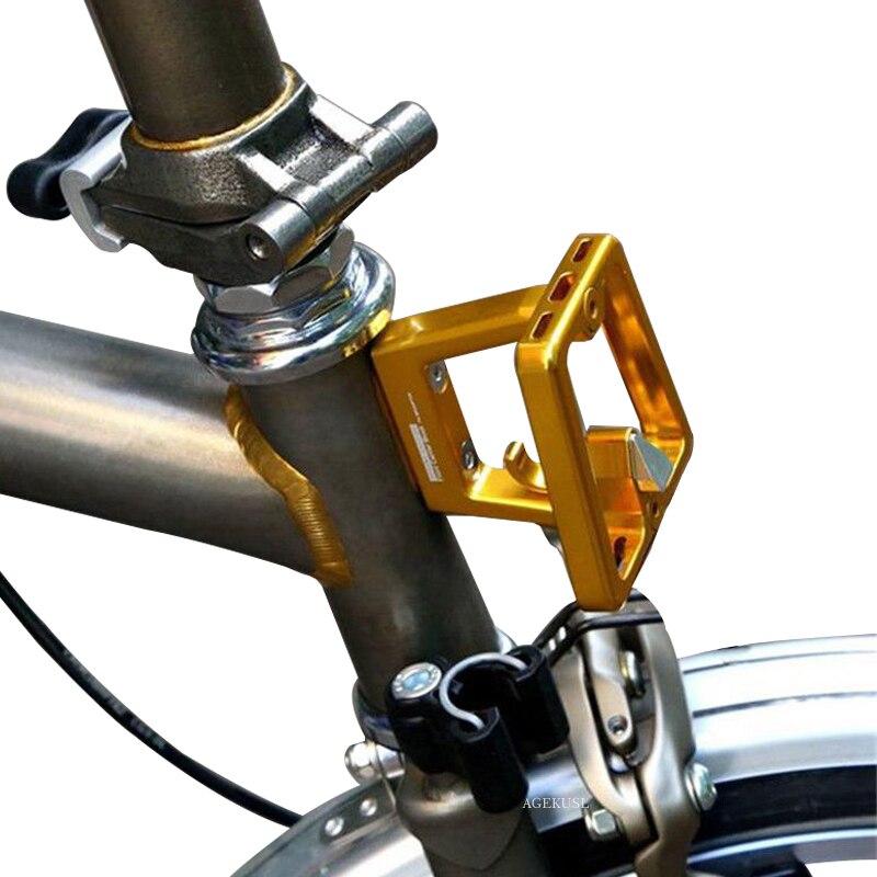 TWTOPSE supports à vélo avant support bloc pour Brompton pliant sac de vélo porte-bagages CNC pièces de cyclisme Super léger 57g accessoire