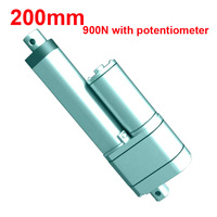 200mm Stroke 900N Potentiometer 12v Linear Actuator 24 volt Linear Actuator Linear Actuator 12v