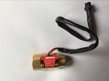 2pcs50mm G1/2 Male Thread Brass Hall Effect Water Flow Sensor Flowmeter 1-25L/min
