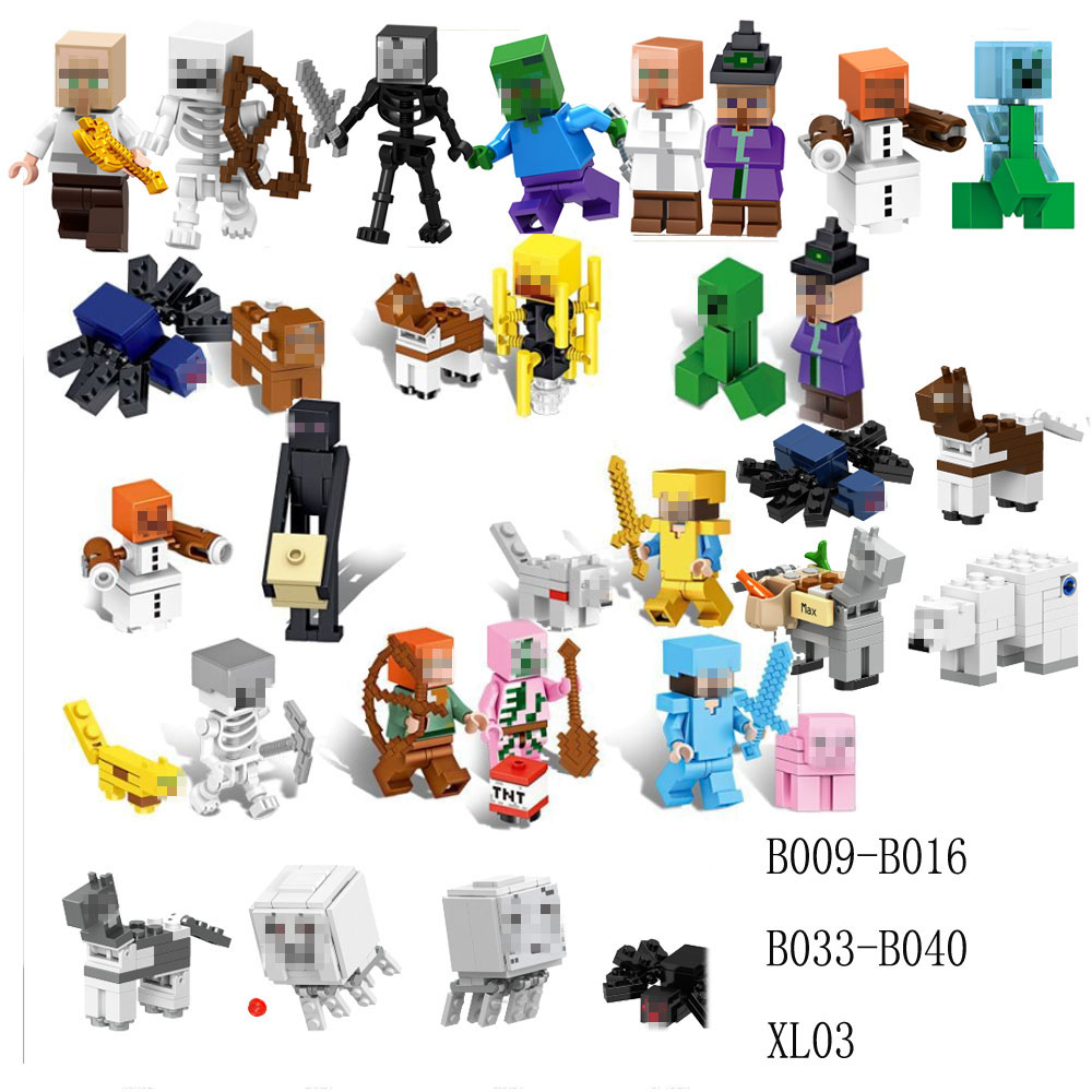 Building Blocks  Minecrafted  My World Figure Kids Educational Toys For Children Gift