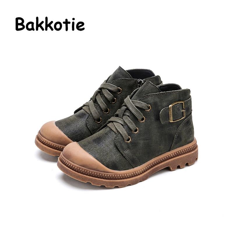 Bakkotie 2017 New Fashion Children Spring Autumn Baby Boy Casual Martin Boot Sneaker Comfort Kid Brand Leisure Shoe Breathable