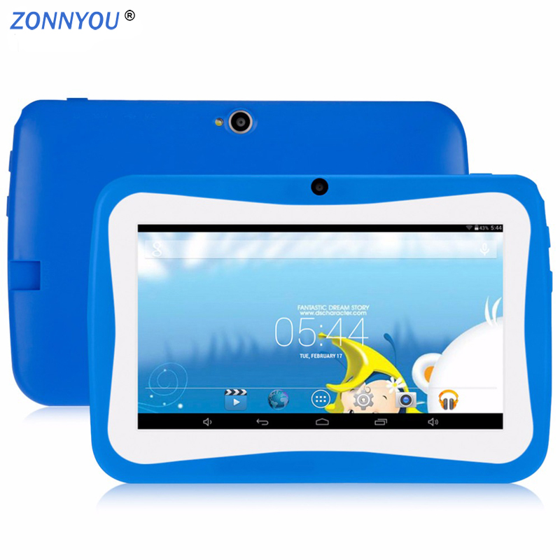 Computer & Office Honesty 7  Childrens Flat Tablet Pc Android4.4 Quad Core 512mb/8gb Wi-fi Baby Games Designed For Children With Gift Box+32gbtf High Standard In Quality And Hygiene