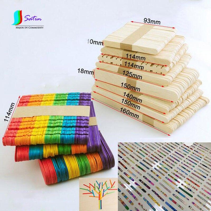 Birkenholz Farbe großhandel mixed größe primären farbe und bunte leere birkenholz eis