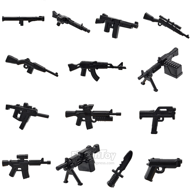 Sniper Rifle AK47 Knifes Lot of 22 Accessories Guns for Lego Minifigures New!