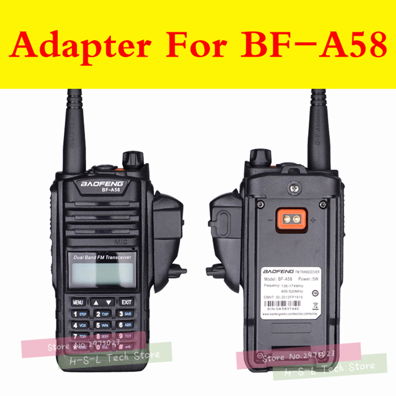 Image 2 - Walkie talkie Audio Adapter+Headset For Baofeng BF 9700 BF A58 BF UV9R N9 Adapter For M Interface 2Pin Headset Port Accessories-in Walkie Talkie from Cellphones & Telecommunications