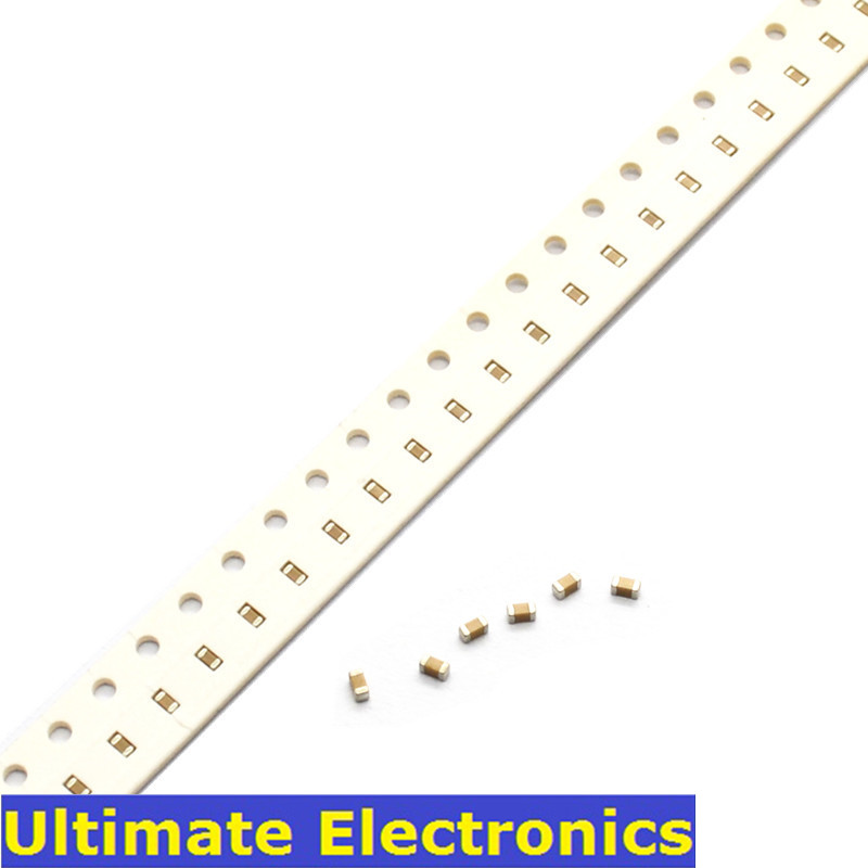 100Pcs/Lot 0603 SMD Chip Multilayer Ceramic Capacitor 0.5pF~2.2uF 10pF 100pF 1nF 10nF 100nF 0.1uF 1uF 2.2uF MLCC Chip Capacitor
