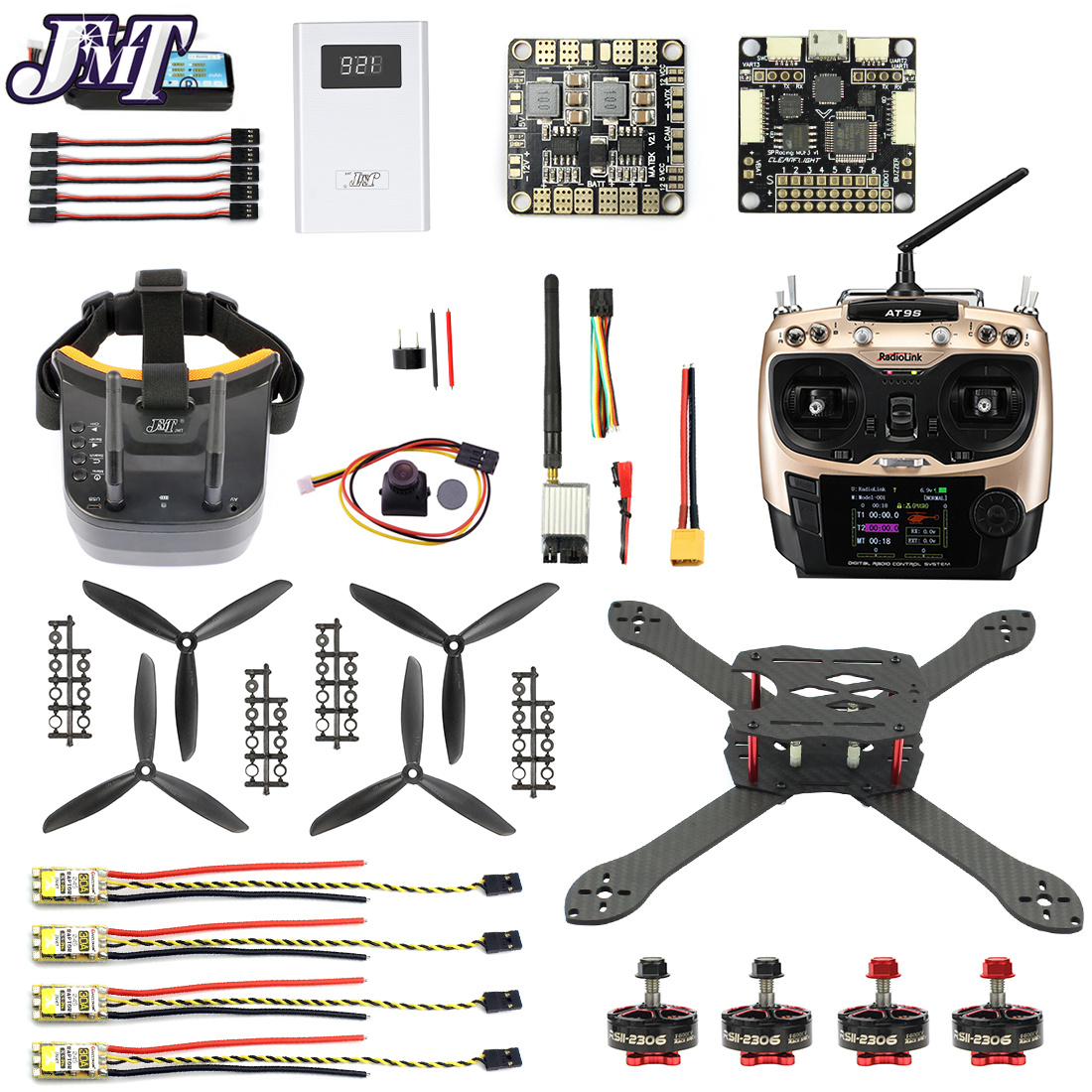 Pro SP Racing F3 300mm 2.4G 10CH FPV RC Quadcopter ARF RTF DIY Combo Carbon Fiber Brushless Camera Drone 700TVL with FPV Goggles jmt leader 120 120mm carbon fiber diy mini fpv racing quadcopter receiver drone camera osd f3 brushless bnf combo set