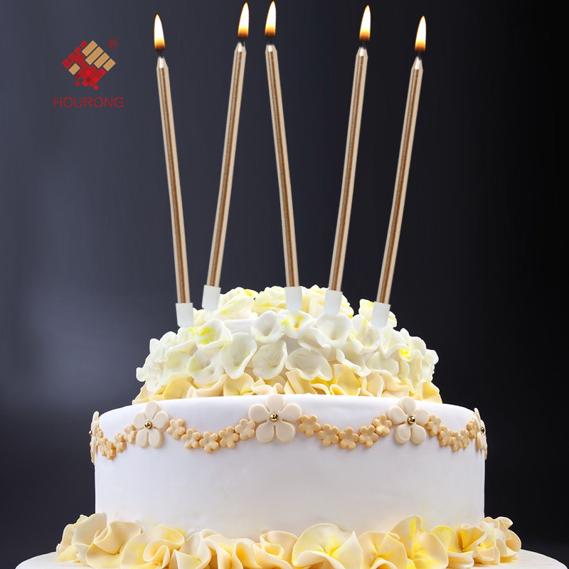 6 Pcs Long Pencil Cake Candle Safe Flames Children Birthday Party Decoration Wedding Candles Accessory