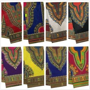 Image 1 - アンカラアフリカワックスプリント生地 Dashiki ワックス生地アンジェリーナデザイン 6 ヤード綿家庭用装飾 DF01
