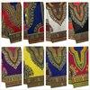Tissu imprimé à la cire Ankara, cire africaine Dashiki, motif Angelina, en coton, 6 yards, pour décoration intérieure DF01