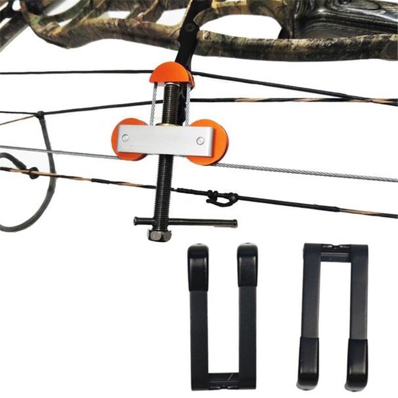 Archery Bow Press Stainless Steel Outdoor Hunting Shooting Quad Limb L Brackets Compound Bow Accessories Tool