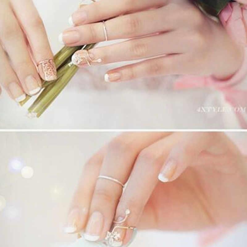 Corée mode prune pendentif doigt ongles anneaux coréen Rose serpent armure ongle protecteur mode bijoux pour femme RD156