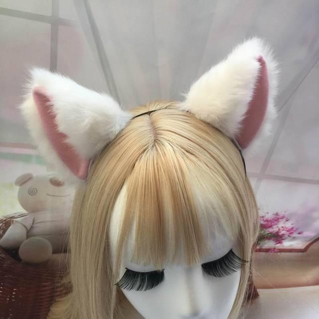 Cat ears horquilla 2017 halloween party cosplay anime costume cat fox orejas oídos cos clip de la horquilla del club #