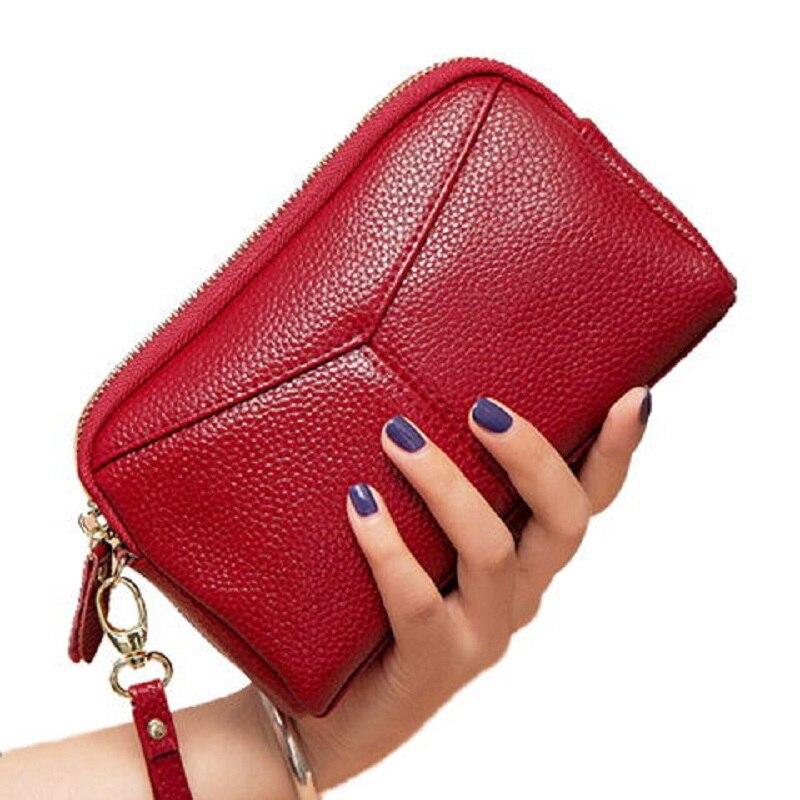 New Genuine Leather women wallet Female Bag Clutches Bag Lar