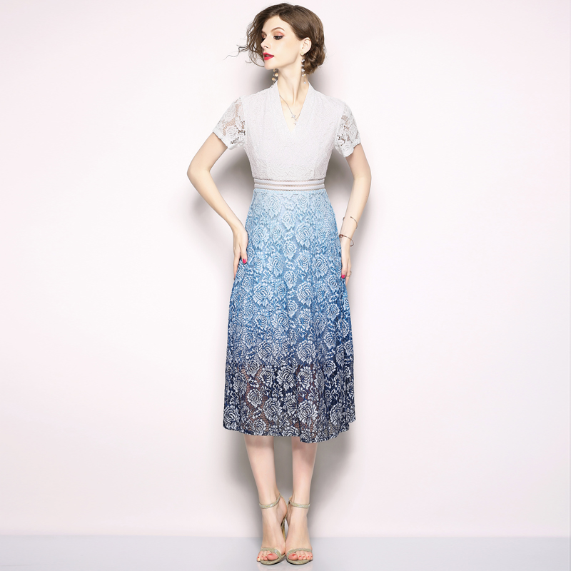2019 Summer Plus Size Lace Hollow Out Sexy Dresses Women