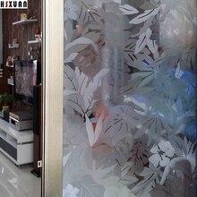Flor decorativa puerta corredera de cristal Película de La Ventana 92×100 cm auto-adhesivo Sin pegamento etiqueta de la ventana electrostática Hsxuan marca 920821