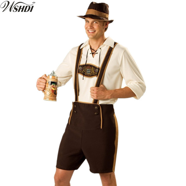 M-XXL Adult Beer Costume Bavarian Octoberfest German Festival Oktoberfest Costumes Cosplay Halloween Costumes for  sc 1 st  AliExpress.com & M XXL Adult Beer Costume Bavarian Octoberfest German Festival ...