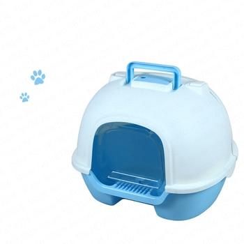 Cat Litter Large Anti-splashing Cat Toilet Fully Enclosed Cat Sand Basin Deodorant Extra Large Cat Pot Cat Litter Box Big Space