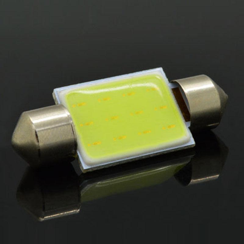 2pcs 36mm C5W WHITE Festoon CANBUS COB LED SMD PLASMA interior bulb 12v DC