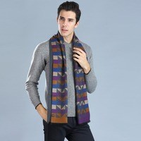 Fashion Man's Scarf 180*33CM Cashmere Silk Business Style Hijab Winter Warmer Luxury Men's Pashminas Shawl Wraps Scarves
