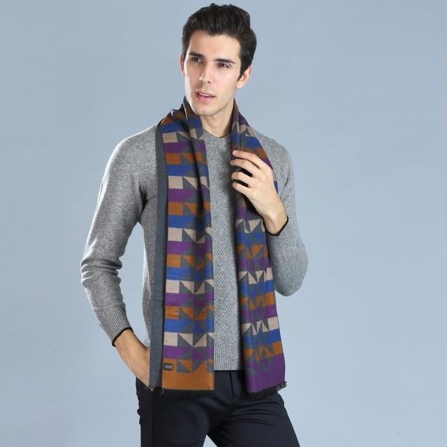 Mode Homme Écharpe 180 33 CM Cachemire Soie D affaires de Style Hijab Hiver cce6e672fd8