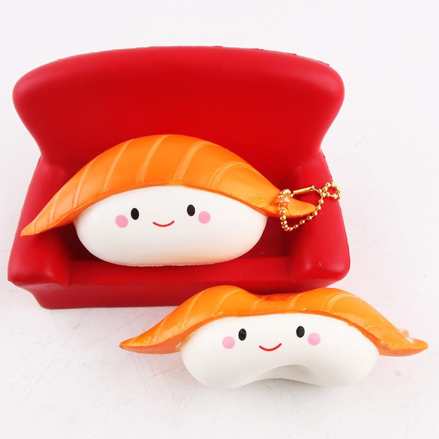 2017 Funny Toy stress reliever Sushi Scented Squeeze Slow Rising Fun Toy Relieve Stress Cure Gift Toys D30+