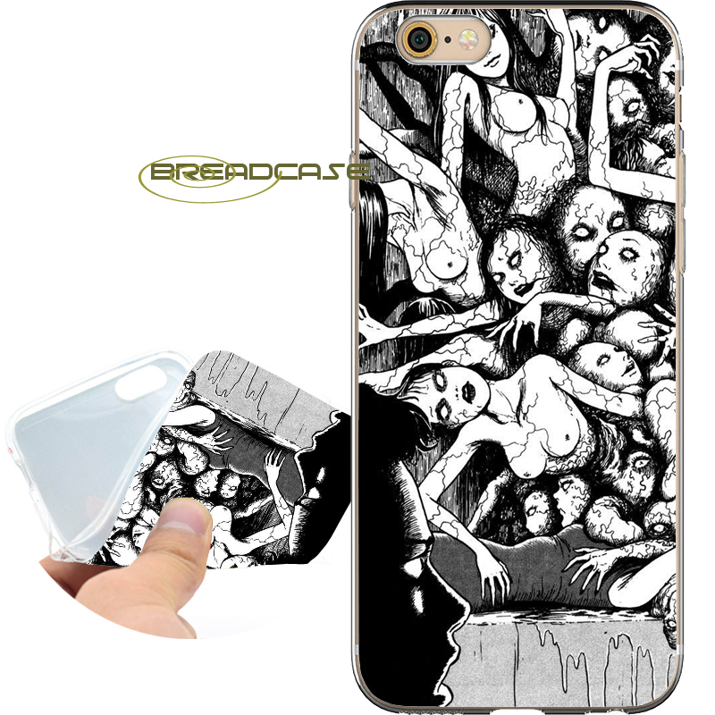 Capa Japan Horror Novel Shell Cases for iPhone 10 X 8 7 6S 6 Plus 5S SE 5 5C 4S 4 iPod Touch 6 5 Soft Clear TPU Silicone Cover.