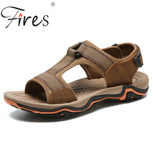 Fires Men Summer Beach Sandals Outdoor Walking Shoes Breathable Sport Shoes Hombre Shock Absorption Soles Size 38-45 Man Sandal