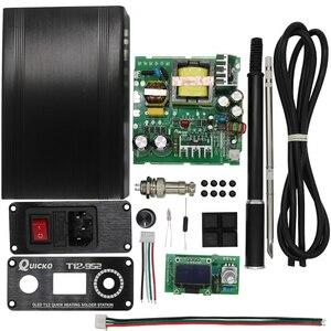 Image 1 - QUICKO STC OLED T12 952 الرقمية متحكم في درجة الحرارة لحام محطة الحديد أطقم صناعة يدوية مع حافظة معدنية ومقبض سبيكة سوداء