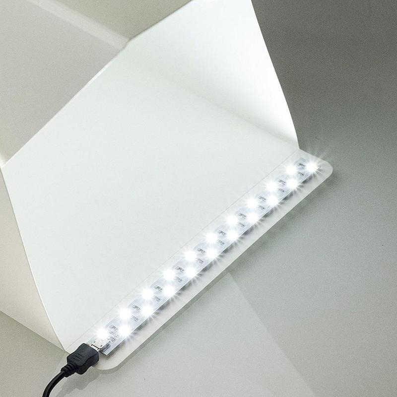 20 センチメートルフォトボックスledライトストリップフォトスタジオボックス生のためのledライトの写真撮影のライトボックススタジオアクセサリー
