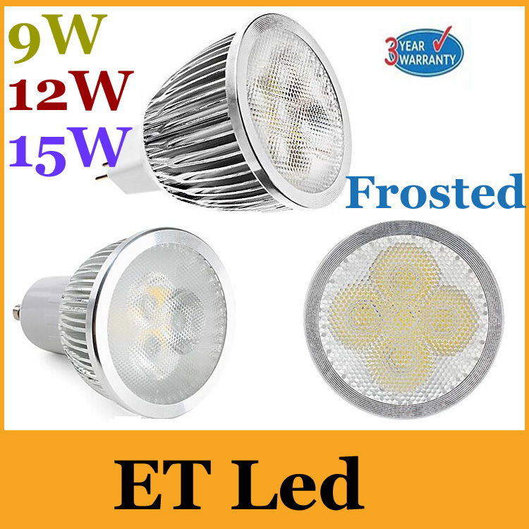 Led Spotlights Amicable E26/e27/gu10/e14/mr16 Frosted Case 9w 12w 15w Led Dimmable Spotlights Bulbs Lamp Bulbs Warm/natural/cool White 85-265v/12v Ul