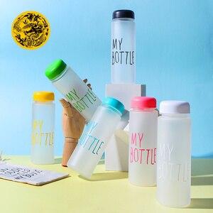 Image 5 - La mia bottiglia di Plastica 500ml PC Bottiglie di Acqua per acqua Trasparente o satinato resistente Al Calore A Tenuta Bottiglia di corsa di colore su ordinazione