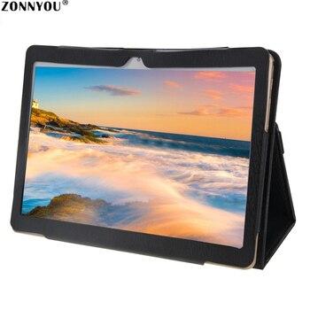 10.1 インチタブレット Pc アンドロイド 8.0 オクタコア 4 ギガバイトの RAM 32 ギガバイトの RAM Hd の Wi-Fi Bluetooth IPS デュアル SIM と GPS FM + レザーケース