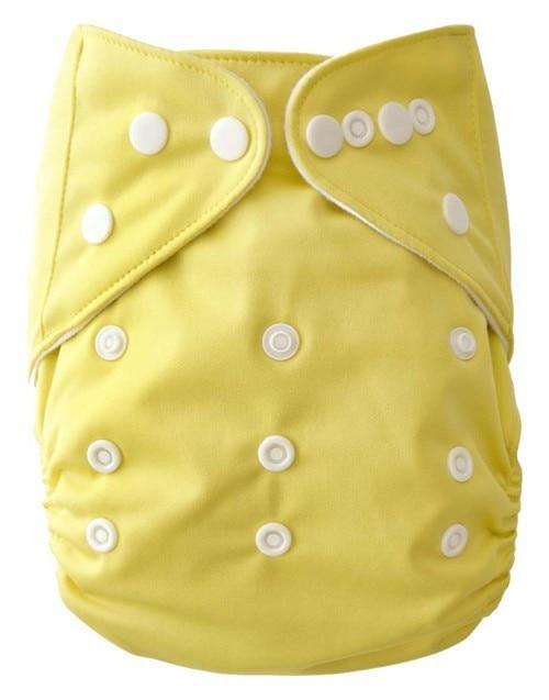 Reusable Baby Cloth Blöja Tvättbar Solid Color Baby Nappy En - Blöjor och potträning