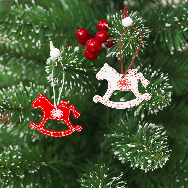 12pcs Christmas Tree Ornaments Wooden Pendants Snowflake Bell Elk Rocking  Horse Wood Craft Christmas Decorations for Home-in Pendant & Drop Ornaments  from ... - 12pcs Christmas Tree Ornaments Wooden Pendants Snowflake Bell Elk